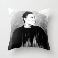 DARK COMEDIANS: Tracy Mo… Throw Pillow