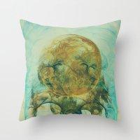 Moon Talking Nebula  Throw Pillow