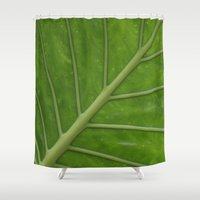 Elephant Ear Leaf Shower Curtain