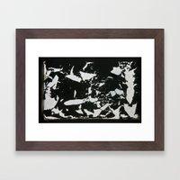 Window texture Framed Art Print