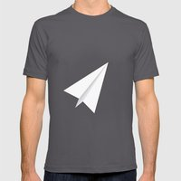 #38 Paperplane Mens Fitted Tee Asphalt SMALL