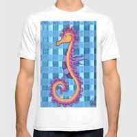 Hippocampe 2x Mens Fitted Tee White SMALL