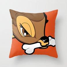 Beware of the deer Throw Pillow