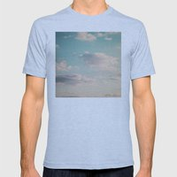 An endless affair with the upper atmosphere Mens Fitted Tee Athletic Blue SMALL