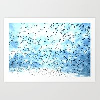 swarm. Art Print