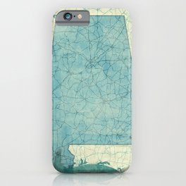 iPhone & iPod Case - Alabama Map Blue Vintage - City Map Art
