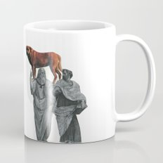 plato n aristotle walking their doge Mug