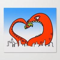Monster Love Canvas Print