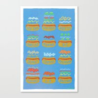 Hot Dogs! Re-do Canvas Print