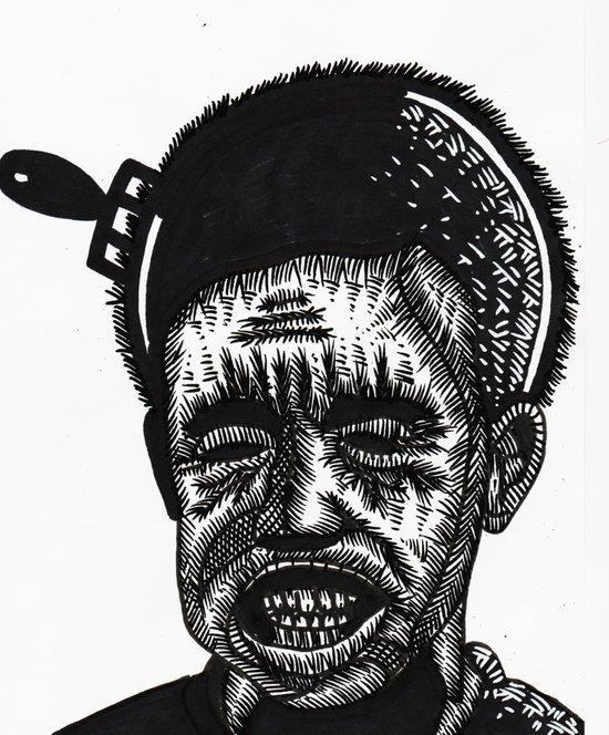AFRO COMB Art Print
