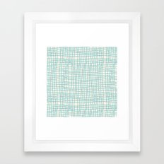 Blue Scribbles Pattern 06 Framed Art Print