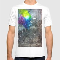 fabric of space Mens Fitted Tee White SMALL