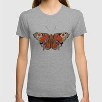Geobutterfly Womens Fitted Tee Athletic Grey SMALL