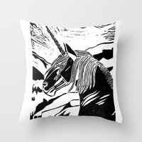 Unicorns Throw Pillow