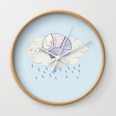 rainy cat Wall Clock