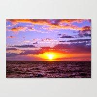 Sunset At Sea 1 - Hawaii Canvas Print