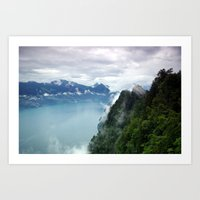 End of the Lake. Art Print