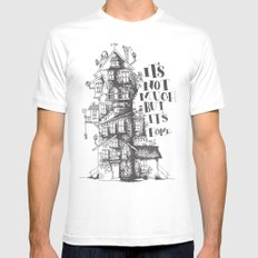 a humble residence White Mens Fitted Tee SMALL
