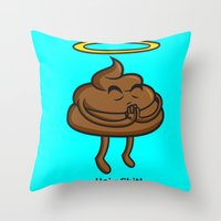 Holy Shit! Throw Pillow