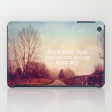 dont look back iPad Case