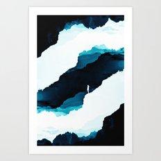 Teal Isolation Art Print