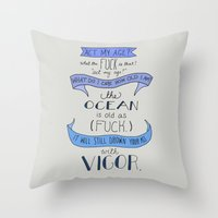 The Ocean..  Throw Pillow