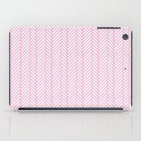 Herringbone Pink iPad Case