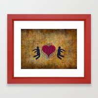 Magnetic love Framed Art Print