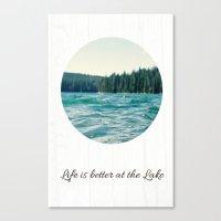 Life On The Lake Canvas Print