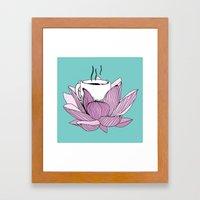 Lotus Coffee Framed Art Print