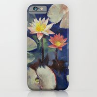 Water Lily Painting iPhone 6 Slim Case