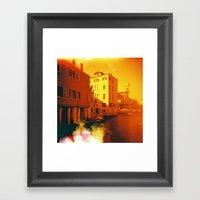 Venice In Redscale Film Framed Art Print