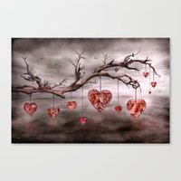 The new love tree Canvas Print