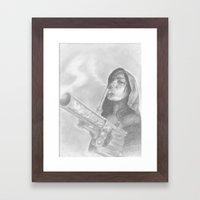 smoking guns Framed Art Print