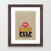 Pulp Fiction - Minimal Poster Framed Art Print