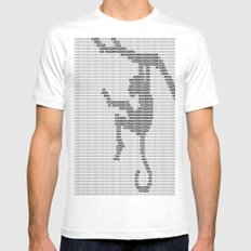 Monkey Mens Fitted Tee SMALL White