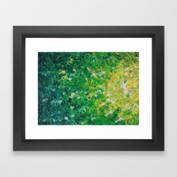 LAKE GRASS - Original Ac… Framed Art Print