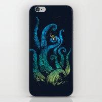 Undersea attack (neon ver.) iPhone & iPod Skin