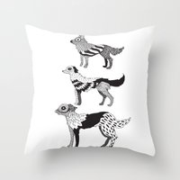 Andersen dogs Throw Pillow