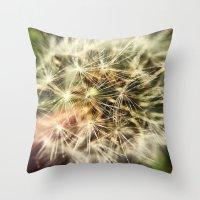 Dandelion Bliss Throw Pillow