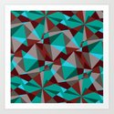 Triangle cubes Art Print
