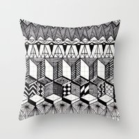 Over the Line Throw Pillow