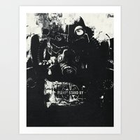 World on fire Art Print