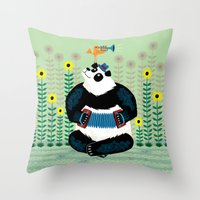 Panda Piazzolla And The … Throw Pillow