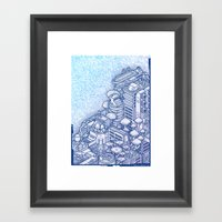 Shroom City Framed Art Print
