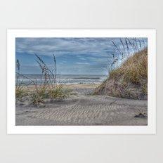 Sand Swirls Art Print