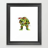 Twin Sai Turtle Framed Art Print