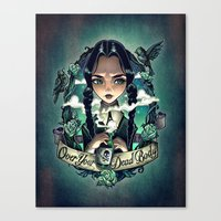 OVER YOUR DEAD BODY Canvas Print