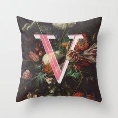 Letter V Throw Pillow