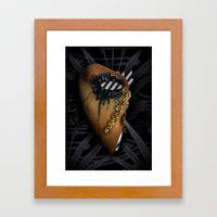 texting and crying... crying and texting Framed Art Print